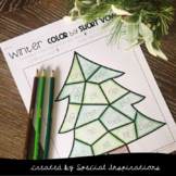 Winter Color by Short Vowel Printables