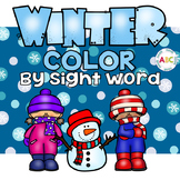 Winter Color by Sight Word