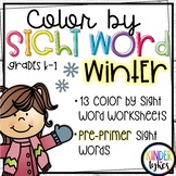 Winter Color by Sight Word (Pre-primer)