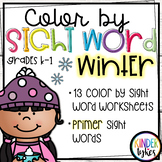 Winter Color by Sight Word (Primer)