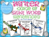 Winter Color by Sight Word Sentences (pre-primer)
