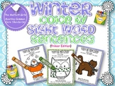 Winter Color by Sight Word Sentences (primer)