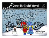 Winter Color by Sight Word {coloring book}