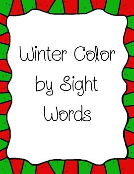 Winter Color by Sight Words