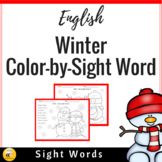 Winter Color by Sight Words (English)