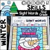 Winter Color by Sight Words First Grade