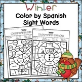 Winter Color by Spanish Sight Words