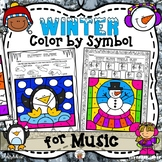 Winter Color by Symbol (for Music)