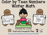 Winter Color by Teen Numbers