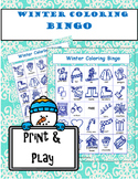 Winter Coloring Bingo Game