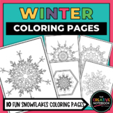 Winter Coloring Book   Snowflakes Coloring Pages   Christmas Coloring Pages