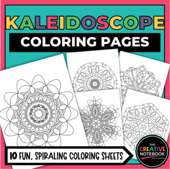 Coloring Pages For Any Occasion Kaleidoscope Coloring Pages Tpt