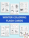 Winter Coloring Flashcards