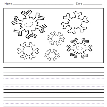 Winter Writing Journal with Word Wall Cards