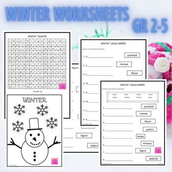 Winter Coloring Page {FREEBIE}