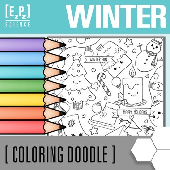 Winter Coloring Page Freebie