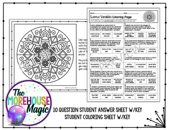 Independent & Dependent Variables - Winter Coloring Activity