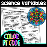 INDEPENDENT & DEPENDENT VARIABLES SCIENCE COLOR BY NUMBER, QUIZ