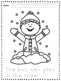 Winter Coloring Pages - Winter Handwriting Practice