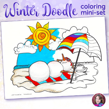 Winter Coloring Pages - Doodle