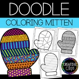 Winter Coloring Pages: Doodle Shape Mitten {Made by Creati