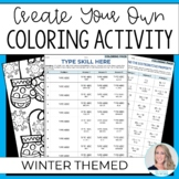 Editable Winter Coloring Pages