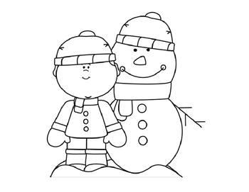 Winter Coloring Pages FREEBIE