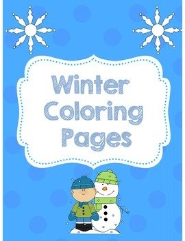 Winter Coloring Pages Free by