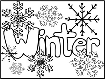 Winter Coloring Pages {Freebie}