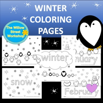 Winter Coloring Pages January February Coloring Pages Tpt
