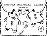 Winter Coloring Pages: Mini Set
