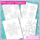 Winter Coloring Pages - Snowflake Art Activity