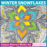Winter Coloring Pages | Snowflake Art Activity