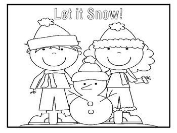 Winter Coloring Pages and Puzzles