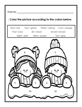 Winter Coloring Pages in English Winter Coloring Pages TpT