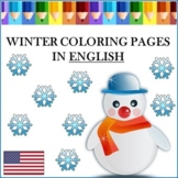 Winter Coloring Pages in English - Winter Coloring Pages