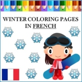 Winter Coloring Pages in French - Hiver: Coloriage