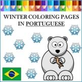 Winter Coloring Pages in Portuguese - Inverno para Colorir
