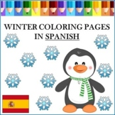 Winter Coloring Pages in Spanish - Invierno Hojas para Colorear