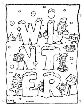 Winter Coloring Sheet-- Integer and Order of Operations Review