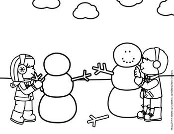 Winter Coloring Sheets