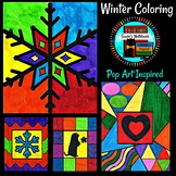 Winter Coloring Sheets Pop Art Inspired