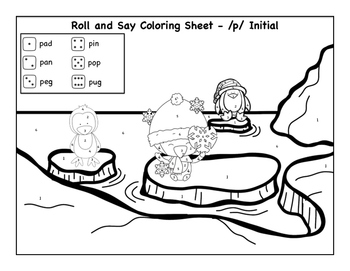 Winter Coloring Sheets for P and B