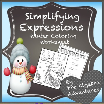 Christmas Pre-Algebra Math Activity {Simplifying and Evaluating Expressions}