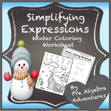 Christmas Simplifying Expressions Coloring Activity {Dista