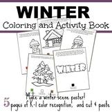 Winter Coloring and Activity Book - Make a Winter Scene Co