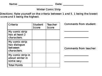Winter Comic Strip