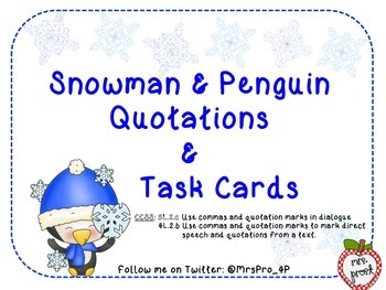 Winter Commas and Quotation Practice
