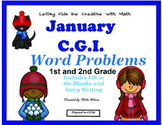Winter Common Core Math C.G.I and Math Attacks!  Combo Pack!