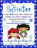Winter - Common Core Math, Common Core Literacy & Science